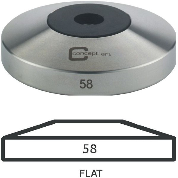 Concept Art Tamper Base Flat 58mm